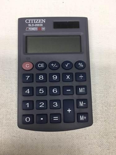 Calculadora Electrónica De Bolsillo Citizen Sld-200iii 8