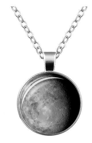 Collar Luna Llena Brilla En La Oscuridad,collar Ac