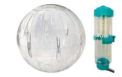 Esfera Para Hamster 18 Cm Diámetro C/base + Bebedero 250 Ml