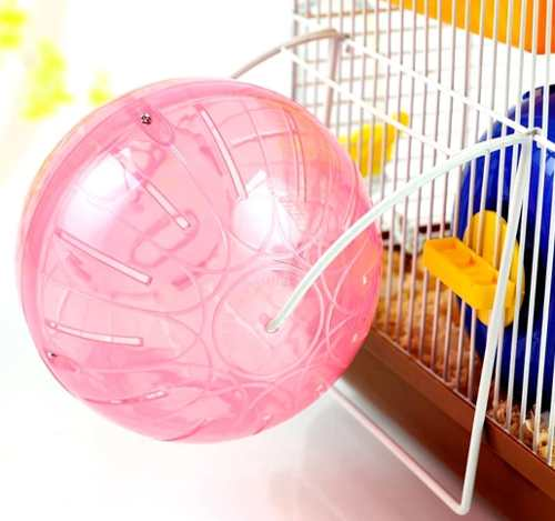 Esfera Para Hamster Con Base Tapas Abierto Y Cerrado12 Cm