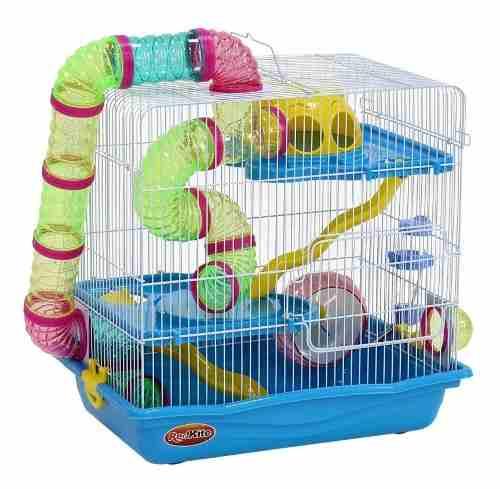 Jaula Fresno Iv Para Hamster Con Rueda Y Bebedero
