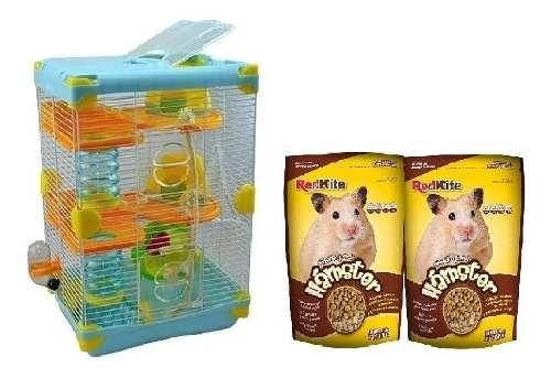 Jaula Hamster Adventure Sunny 27.7x20.5x42.5cm + Alimento