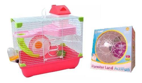 Jaula Hamster Land Sunny 35.5 X 24 X 33 Cm + Esfera Sunny