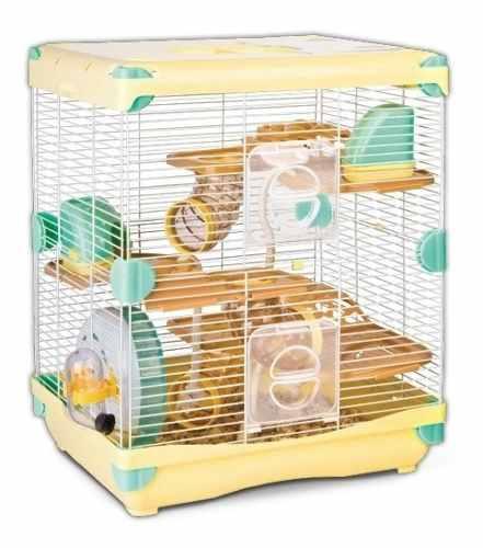 Jaula Hamster Sunny Todos Los Accesorios Amarilla 36 X 27 X