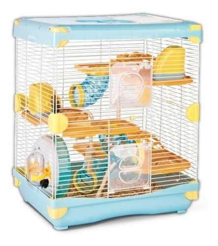 Jaula Hamster Sunny Todos Los Accesorios Azul 36 X 27 X 42.5