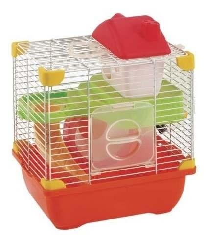 Jaula Plastica Hamster Incluye Accesorios 24cm X 18cm X 30c