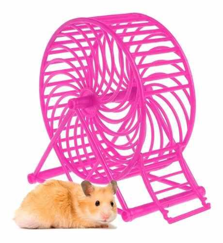 Rueda De Ejercicio Juguete Para Hamster Fucsia Q