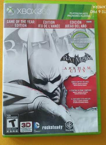 Batman Arkham City Juego Del Año - Xbox 360