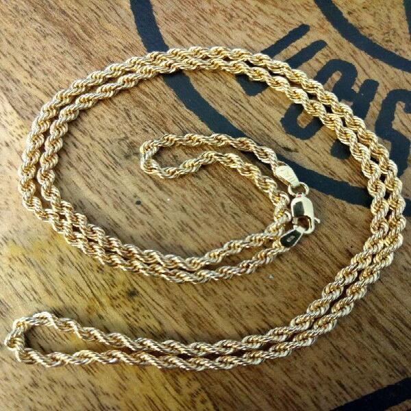 Cadena collar torzal oro de 14 italy de 6.93 gramos.