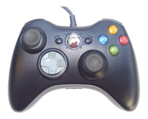 Gamepad Control Usb Alambrico Compatible Xbox 360 Pc Negro