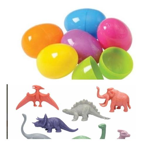 Huevo Dinosaurio Encapsulado 2 Pulgadas Bolsa Con 50 Pzs 2p
