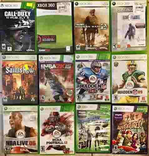 Juegos Xbox 360 Ghosts Mw2 Kinect Sport Saints Row Madden 25