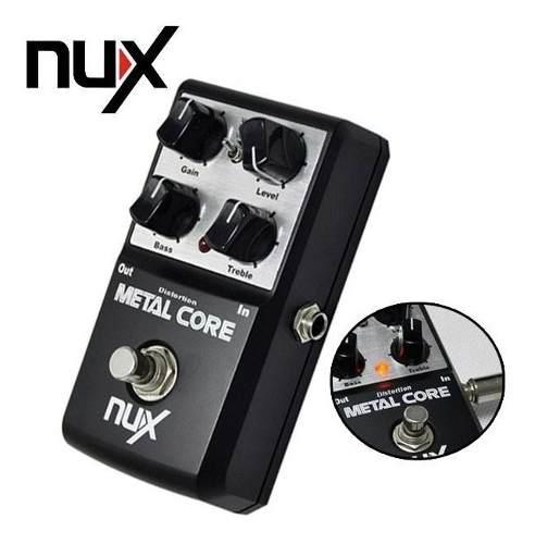 Metal Core Deluxe Nux Pedal De Efectos Para Guitarra