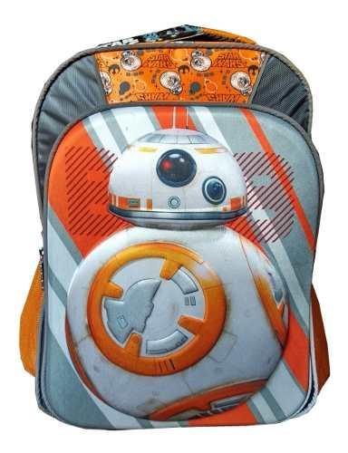 Mochila Escolar Primaria Star Wars Bb8 3d Ruz