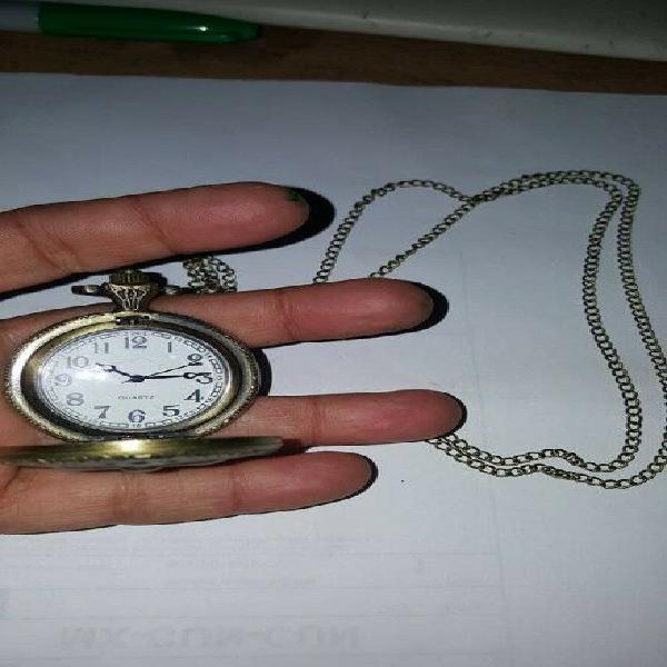 Reloj De Bolsillo Tipo Vintage De Cruz Pendiente Collar