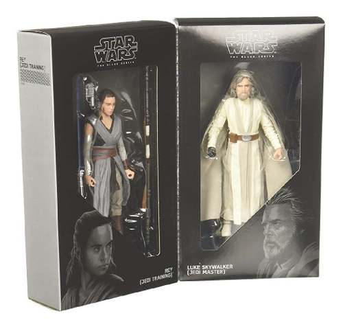 Star Wars Black Series Rey Y Luke Skywalker Sdcc Exclusivo