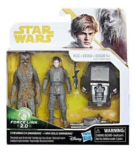 Star Wars Chewbacca Y Han Solo Force Link Hasbro
