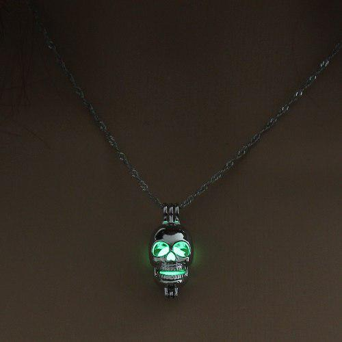 Collar Calavera Skull Skeleton Brilla En La Oscuridad Regalo