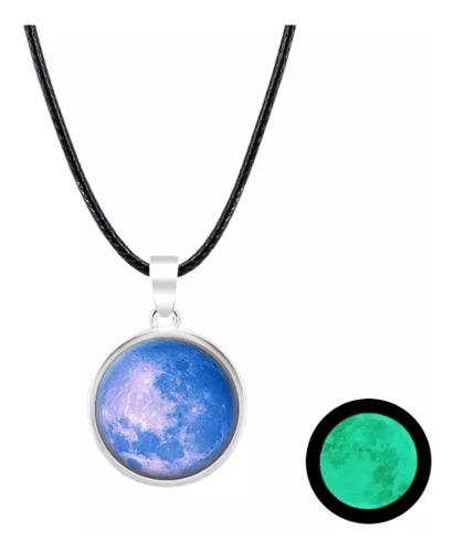 Collar De Luna Llena Brilla En La Oscuridad !! Moon Ligth