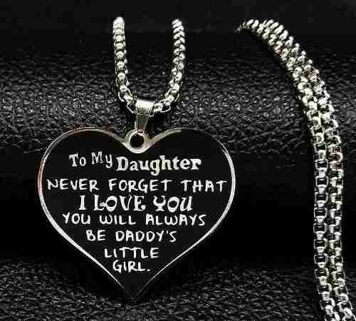 Collar Dedicado A La Hija Recuerdo Del Padre