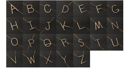 Collar Dije Letras Inicial Acero Inoxidable Caja Regalo
