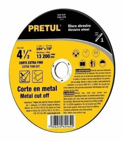 Disco Tipo 41 Para Corte Fino De Metal 4 B