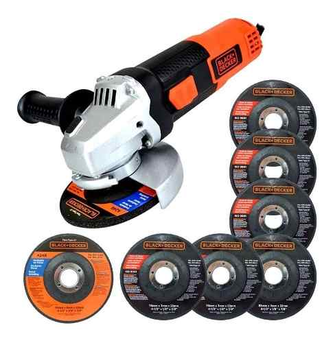 Esmeril Angular w Con 7 Discos G720p Black & Decker