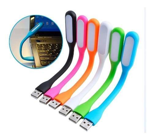 Lampara Led Usb Pc Laptop Linterna Flexible Varios Colores