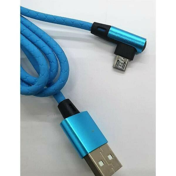 Mayoreo Cable USB Horizontal Micro USB 90 Grados
