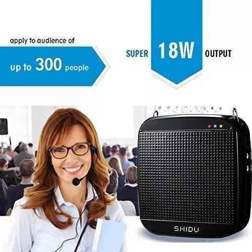 Shidu Amplificador De Voz Portátil (18 W, S512, Con