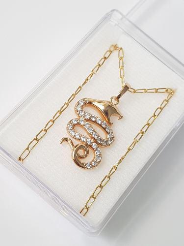 Vibora Collar Oro Con Cristal Swarovski Envio Gratis