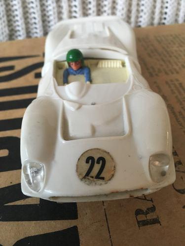 Vintage Ferrari Gt 330 Scalextric C41 Blanco