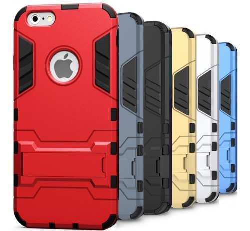 Funda Case iPhone 5s Se 6 6s 7 8 Plus + Cristal Uso Rudo