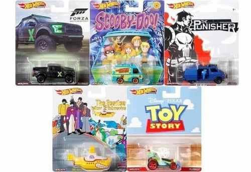 Hot Wheels Colección Serie Retro 5 Pzas Toy Story Scooby