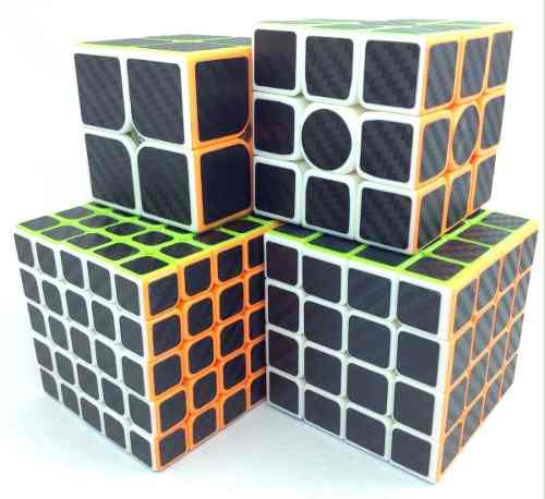 Paquete 4 Cubos Rubik Z Cobra Fibra Carbono