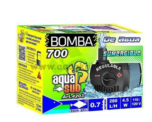 Bomba De Agua Mini Sumergible 230 L/h 60cm Fuente Acuario