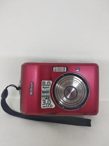 Camara Digital Nikon Coolpix 8.0 Mp Roja Fotos Envio Gratis