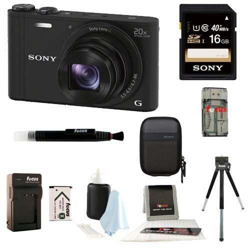 Camara Digital Sony Cybershot Wx350 Con Paquete De Tarjeta S