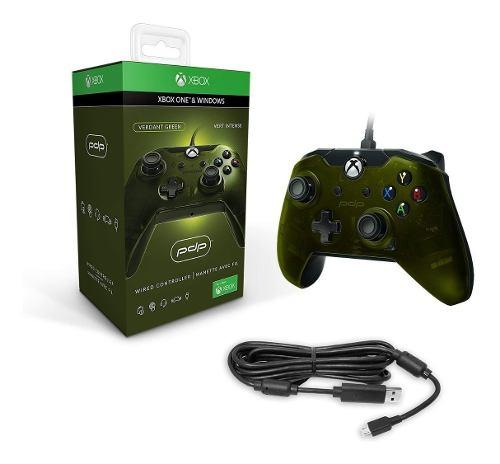 Control Xbox One /pc Alambrico Pdp Verde Nuevo