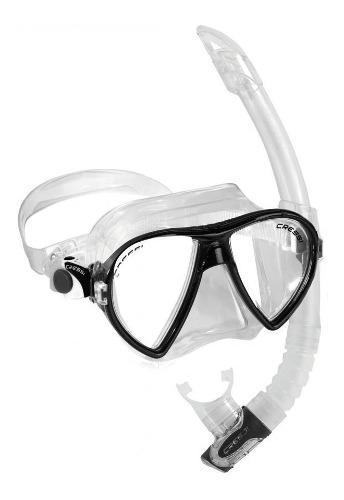 Cressi Kit Ocean Vip Para Buceo Avanzado (visor Y Snorkel)