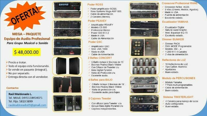 Equipo de Audio Profesional (Mega Paquete).