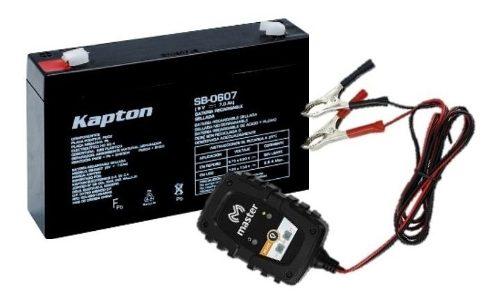 Kit De Batería 6 Volts Para Carrito Electrico Con Cargador