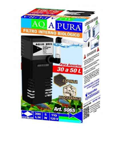 Mini Filtro Sumergible 150l/h Pecera 20 Litro Tubo Rociador