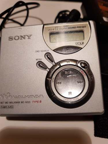 Minidisc Sony,graba Y Reproduce,cargador Y Control.