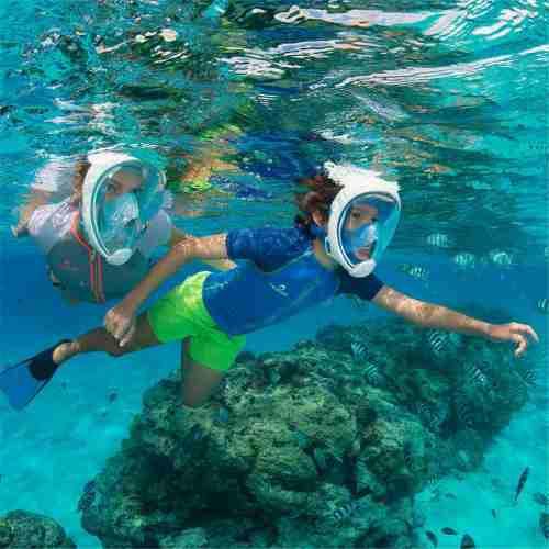 Máscara De Buceo Máscara De Snorkel Panorámico Azul S/m