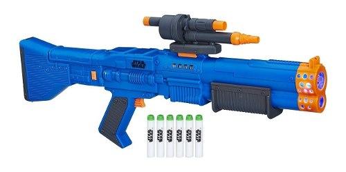 Star Wars Chewbacca Lanzador Nerf Blaster Con Luz Y Sonido