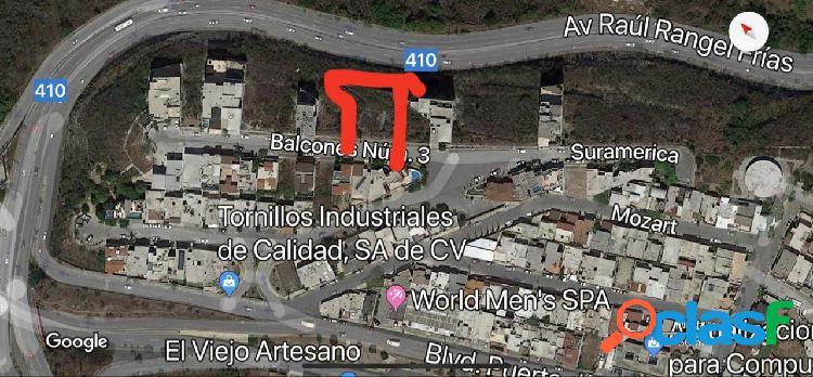 TERRENO EN VENTA COL. BALCONES COLINAS DE SAN JERONIMO,