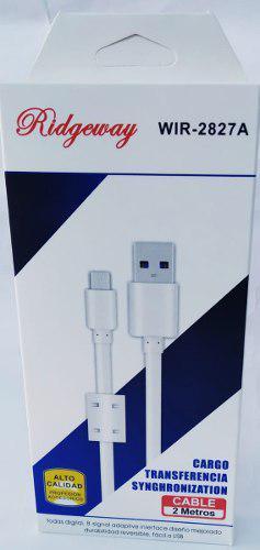 Cable V8 Reforzado Carga Rapida Micro Usb 2.0 Uso Rudo Color