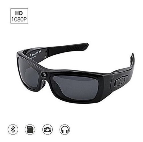 Camakt Bluetooth Gafas De Sol Cámara, Completo Hd p Di