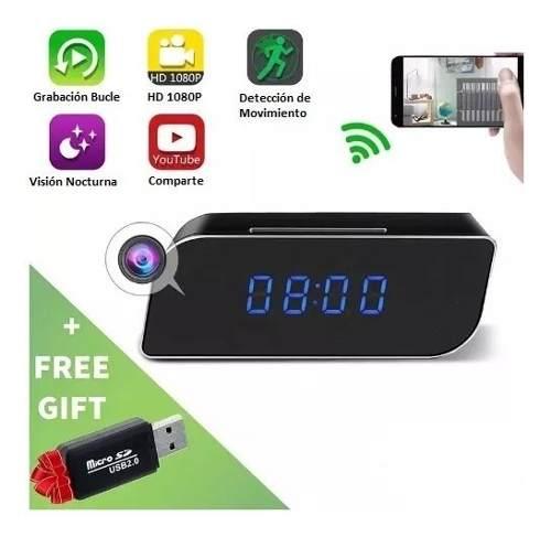 Camara Espia Reloj Wifi Deteccion Movimiento Vision Nocturna